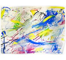 Happy Chaos Abstract Painting Poster