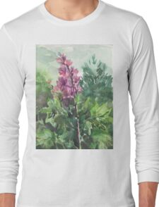 watercolor flowers Long Sleeve T-Shirt