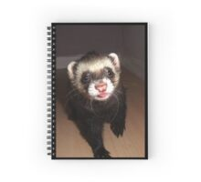 Ferret with tongue out Spiral Notebook
