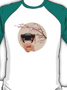 Japanese Ume Kokeshi Doll T-Shirt