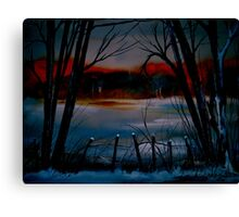 Night and Silence.. Canvas Print