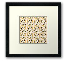 Papaya Illustration Pattern Framed Print
