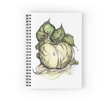 Fabulous apple. Hand draw  ink and pen, Watercolor, on textured paper Spiral Notebook