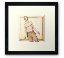 Benedict: golden and brown Framed Print
