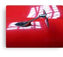Car mirror** Canvas Print