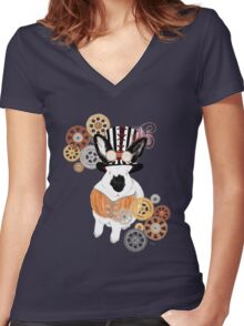 Steampunk'd Bailey Women's Fitted V-Neck T-Shirt