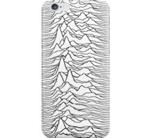 Pulsar waves - white&black iPhone Case/Skin