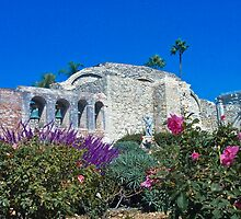 Mission San Juan Capistrano - Lavender and Bells by Cupertino
