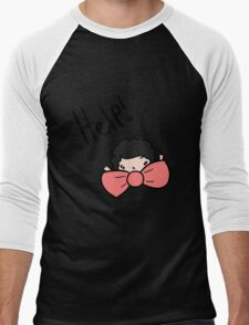 My bow tie's too big! Men's Baseball ¾ T-Shirt