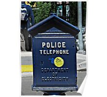 Police Telephone  Poster