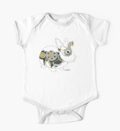 Daily Doodle 33 - Robot - Steampunk Bunny -Elvis One Piece - Short Sleeve