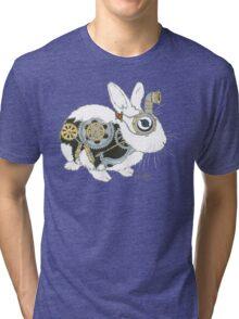 Daily Doodle 33 - Robot - Steampunk Bunny -Elvis Tri-blend T-Shirt