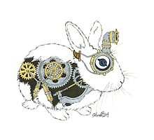 Daily Doodle 33 - Robot - Steampunk Bunny -Elvis by ArtbyMinda