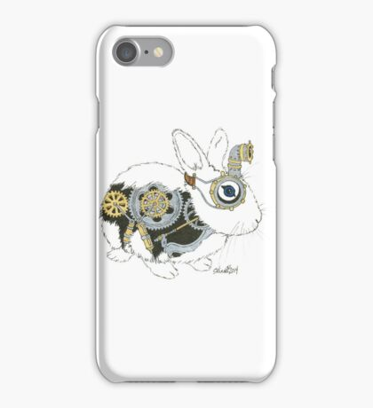 Daily Doodle 33 - Robot - Steampunk Bunny -Elvis iPhone Case/Skin