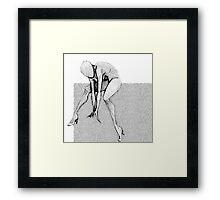 Body (Boxed) Black and White Framed Print