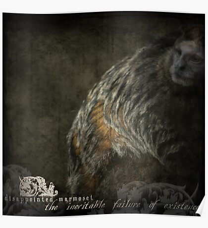 DISAPPOINTED MARMOSET - The Inevitable Failure of Existence... Poster