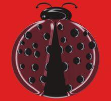 Red Ladybug Children T-shirt One Piece - Short Sleeve