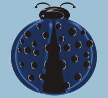 Blue Ladybug Children T-shirt One Piece - Short Sleeve