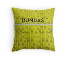 DUNDAS Subway Station Throw Pillow
