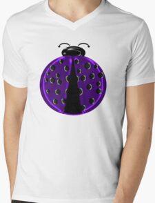 Purple Ladybug Children T-shirt Mens V-Neck T-Shirt