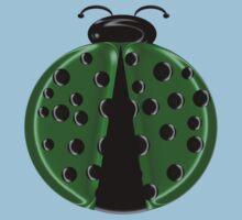 Green Ladybug3 Children T-shirt Kids Tee