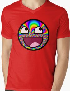 AWESOME MEME FACE - Cool  EFFECT Mens V-Neck T-Shirt