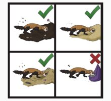 Ferret Digs and Don'ts One Piece - Short Sleeve