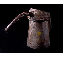 Old oil can Photographic Print