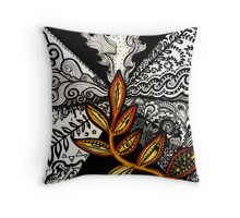 Black to Gold (some seek, some dissolve) Throw Pillow