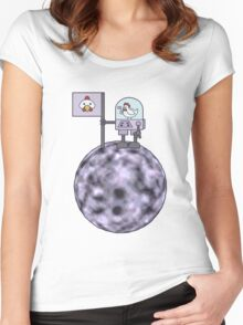 Space Chicken Conqueror Women's Fitted Scoop T-Shirt