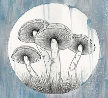 Magic Shrooms by Klee Art