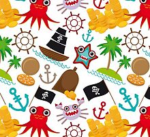 Marine pirate pattern by EkaterinaP