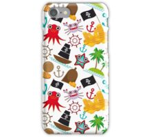Marine pirate pattern iPhone Case/Skin