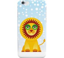 Funny cartoon lion and sky background.  iPhone Case/Skin