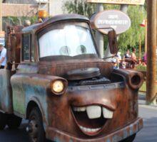 Mater from Cars At  Disneyland California Adventure Sticker
