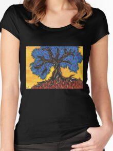 Gnarled Tree  Women's Fitted Scoop T-Shirt