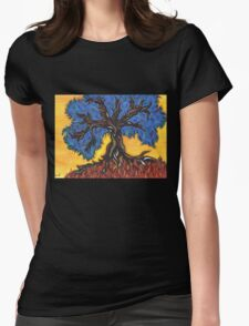 Gnarled Tree  Womens Fitted T-Shirt