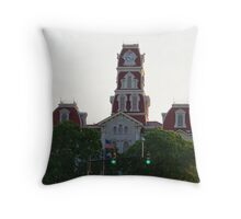Parker County Courthouse Throw Pillow