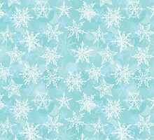 winter background with white snowflakes by EkaterinaP