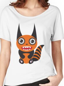 Cute cartoon orange monster Women's Relaxed Fit T-Shirt