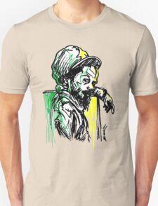 Rastafarian Leaning on Wall T-Shirt