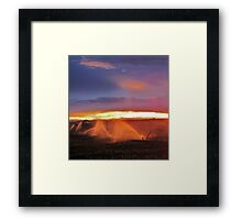 Sunset and Sprinklers Framed Print