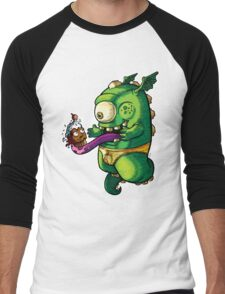 Oh No! Cupcake Monster Men's Baseball ¾ T-Shirt