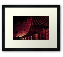Danger Lies Ahead Framed Print