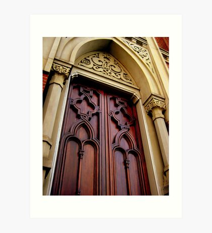 Wise Temple Church Door Cinci, Oh Art Print