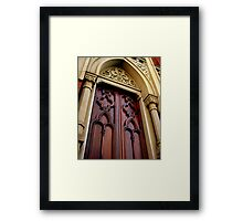 Wise Temple Church Door Cinci, Oh Framed Print