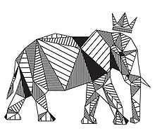 Geometric Elephant by psydrian