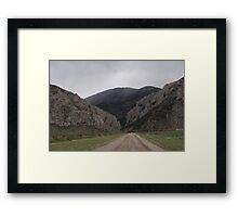 """""""Road To Avalanche Gulch"""" Framed Print"""
