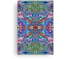 Card - Abstract Texture Pink and Blue Canvas Print