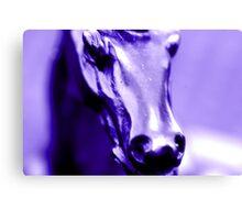 """PURPLE HORSE"" macro Canvas Print"